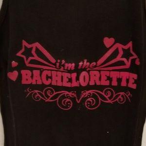 Tops - IM THE BACHELORETTE BLACK TANK